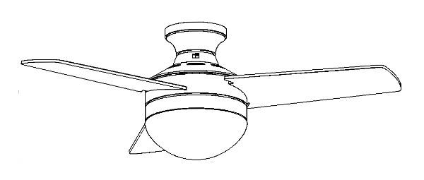 ceiling fan with light and remote control  girona