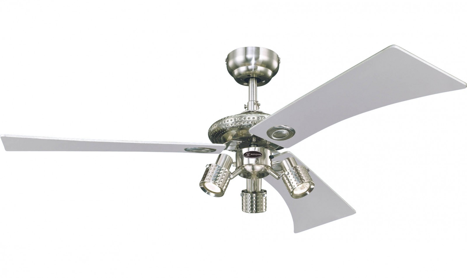 westinghouse ceiling fan audubon nickel 122 cm 48 with. Black Bedroom Furniture Sets. Home Design Ideas