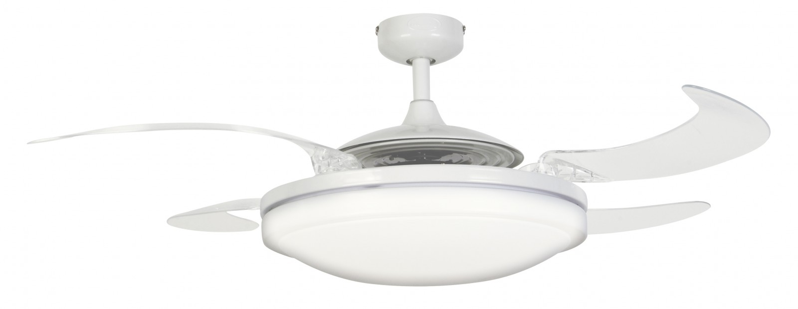 Ceiling fan fanaway evo2 endure white 122 cm 48 with - Fan with retractable blades ...