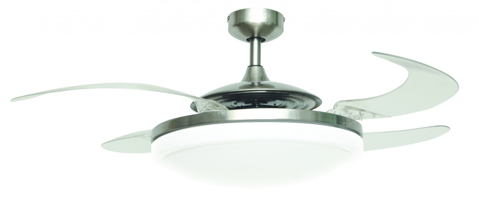 Ceiling fan fanaway evo2 endure chrome brushed 122 cm 48 with retractable blades ceiling fans - Fanaway ceiling fan ...