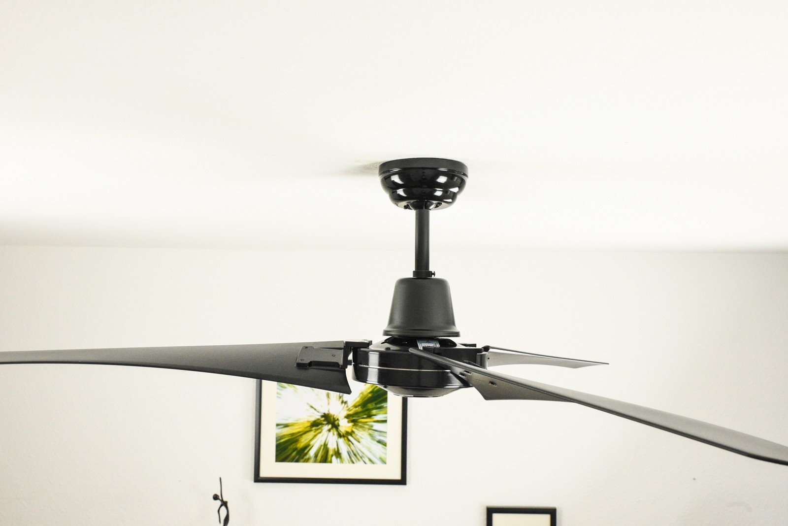 Industrial Fan Switch : Industrial ceiling fan vourdries black with wall control