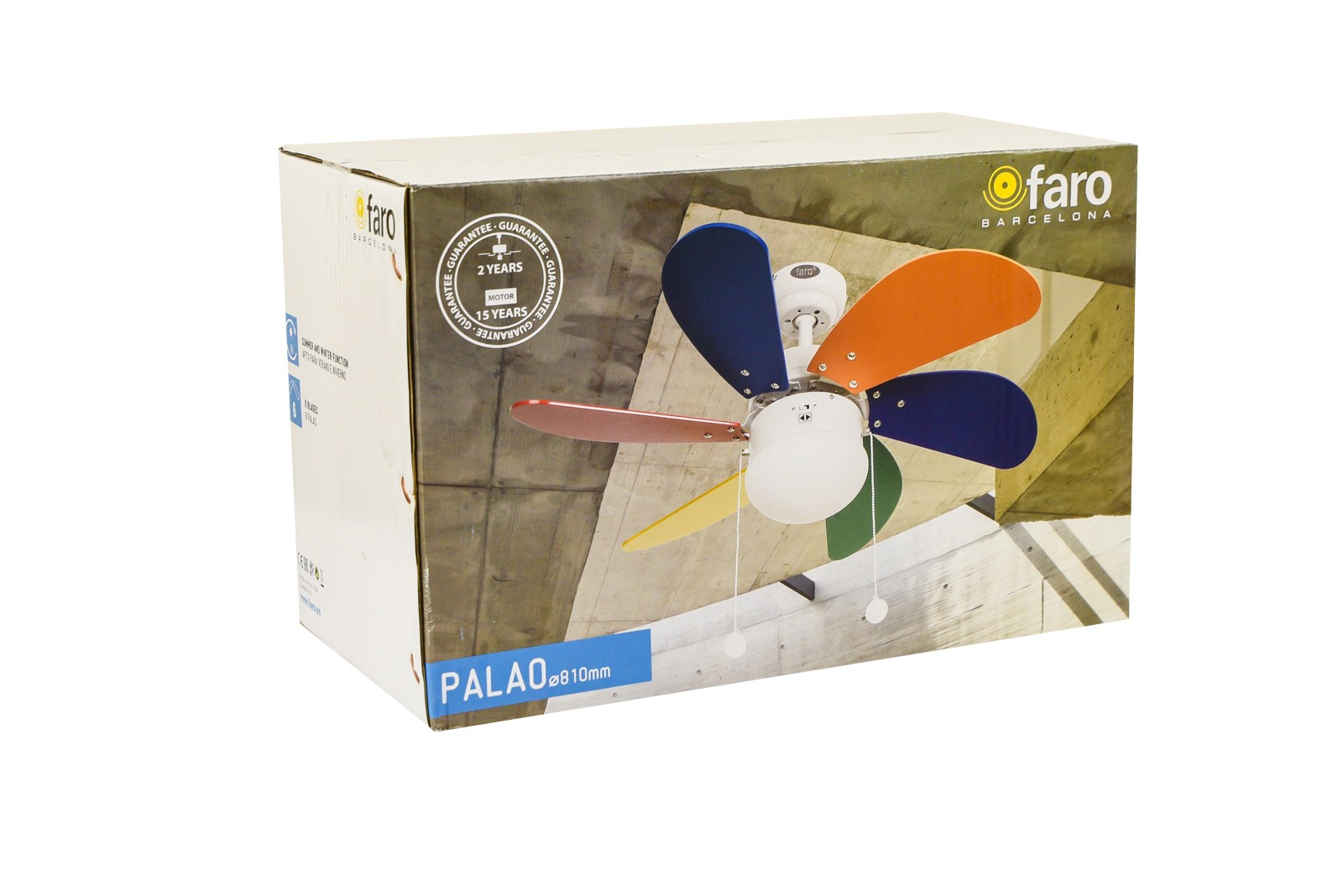 Faro Ceiling Fan Palao Multi Colour 76 Cm 30 Quot With