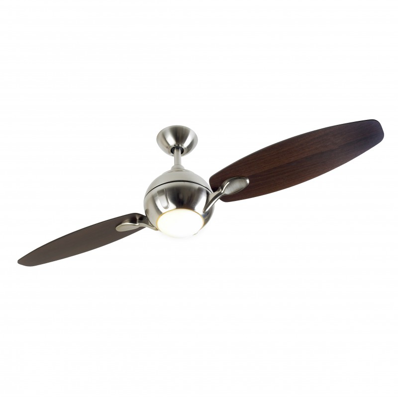 Ceiling fan propeller brushed nickel with light 137 cm 54 ceiling fans for domestic and - Propeller ceiling fans ...