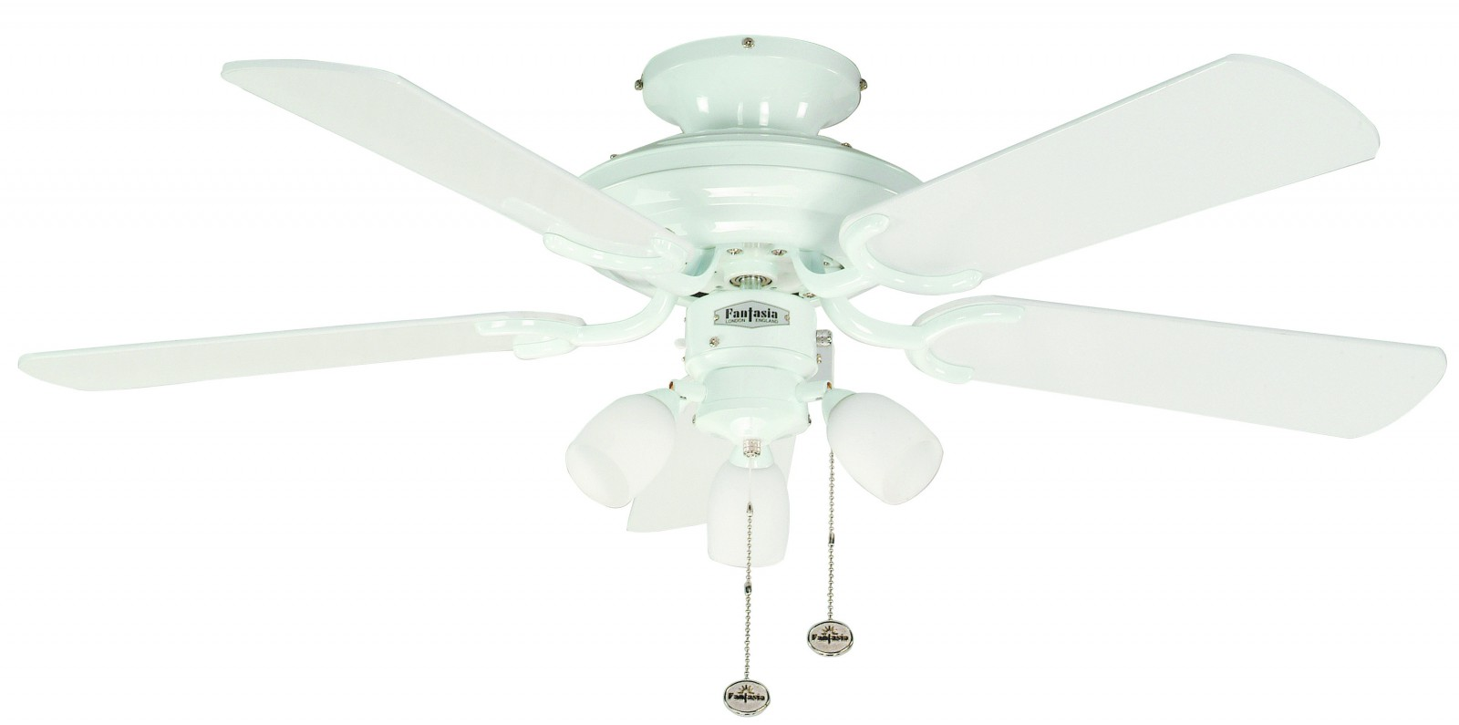 ceiling fan mayfair combi white with light 107 cm 42. Black Bedroom Furniture Sets. Home Design Ideas